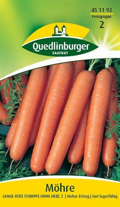 200 Samen Möhre Karotte Mohrrübe Lange Rote Stumpfe